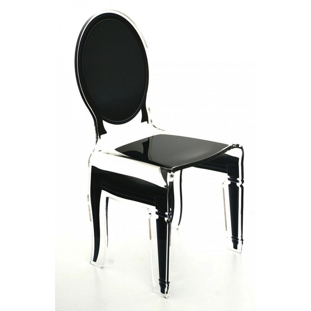 chaises tables et chaises sixteen chaise acrila en plexi noire inside75. Black Bedroom Furniture Sets. Home Design Ideas