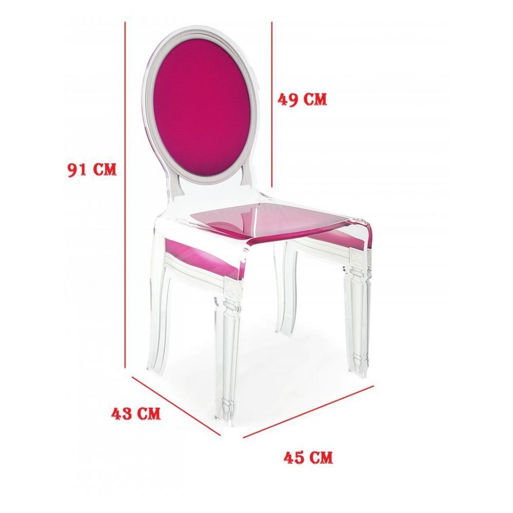 chaises tables et chaises sixteen chaise acrila en plexi rose inside75. Black Bedroom Furniture Sets. Home Design Ideas