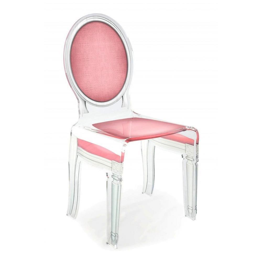chaises tables et chaises sixteen chaise acrila en plexi rose pale inside75. Black Bedroom Furniture Sets. Home Design Ideas