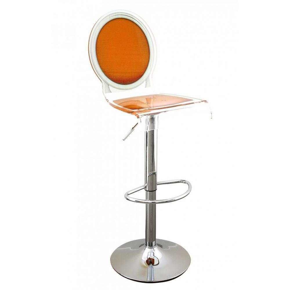 tabourets de bar meubles et rangements tabouret chaise de bar sixteen orange plexiglass acrila. Black Bedroom Furniture Sets. Home Design Ideas