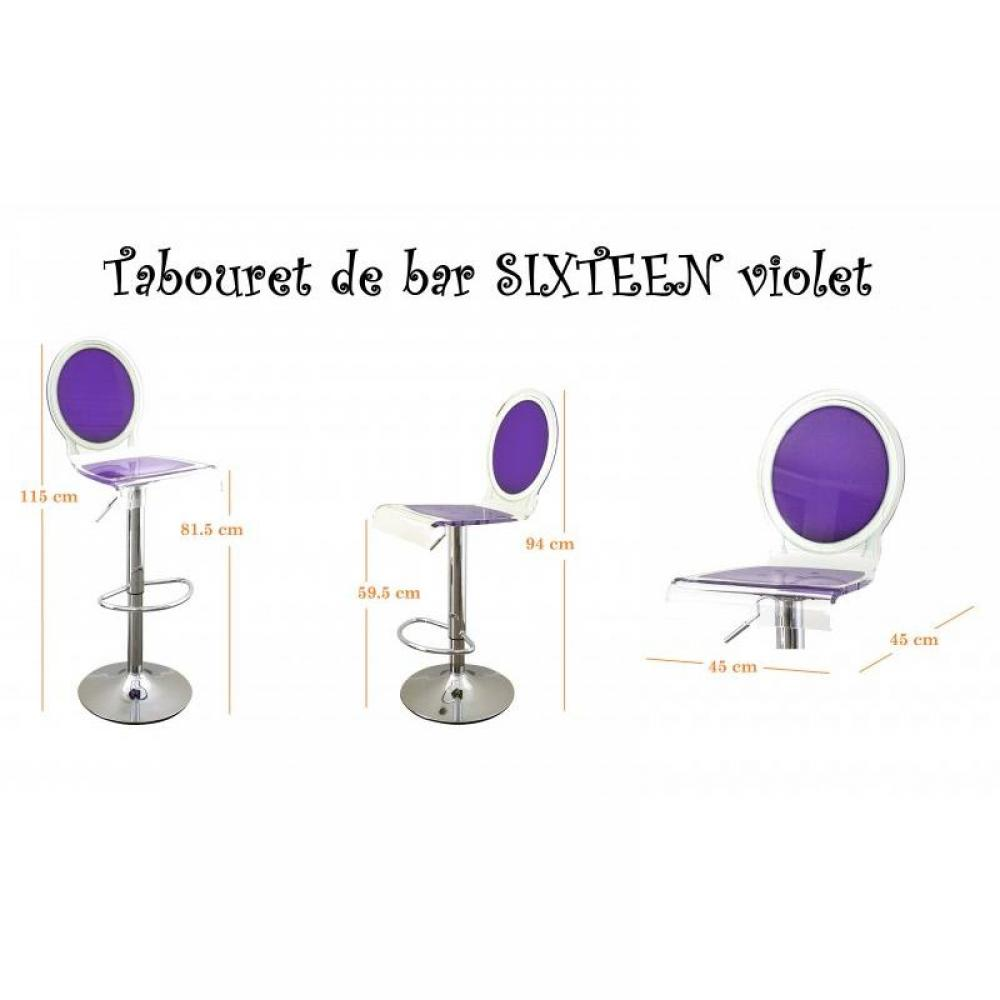 Tabourets de bar meubles et rangements tabouret chaise for Chaise de bar violet