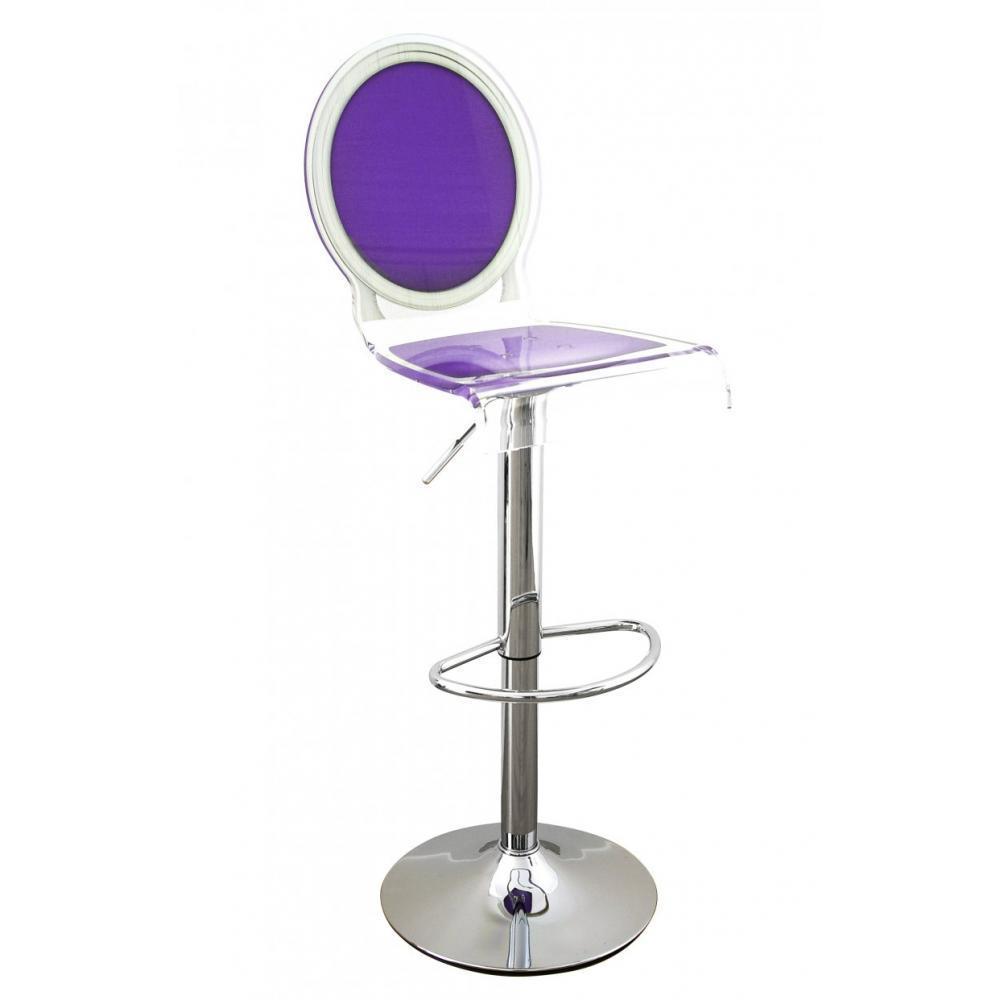 tabourets de bar tables et chaises tabouret chaise de bar sixteen violet plexiglass acrila. Black Bedroom Furniture Sets. Home Design Ideas