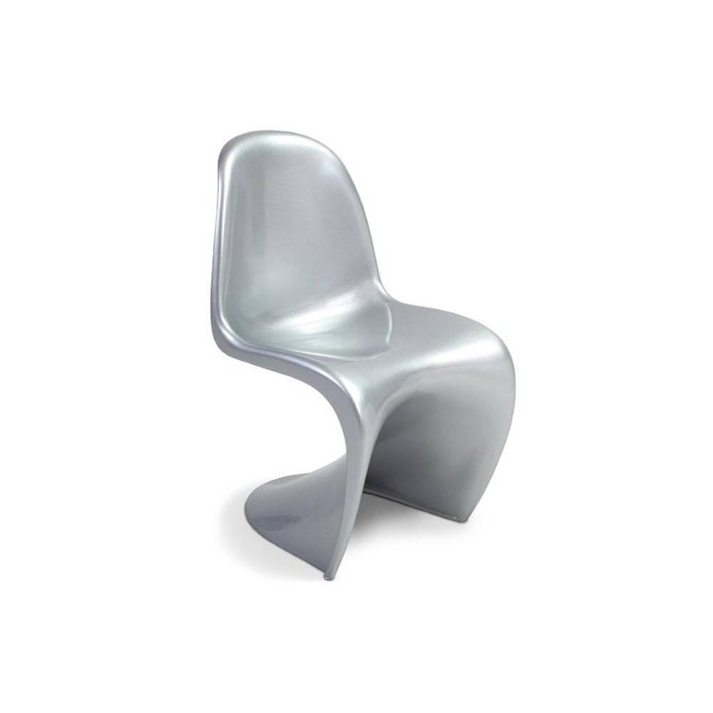 chaises tables et chaises chaise design phantom slash silver inside75. Black Bedroom Furniture Sets. Home Design Ideas