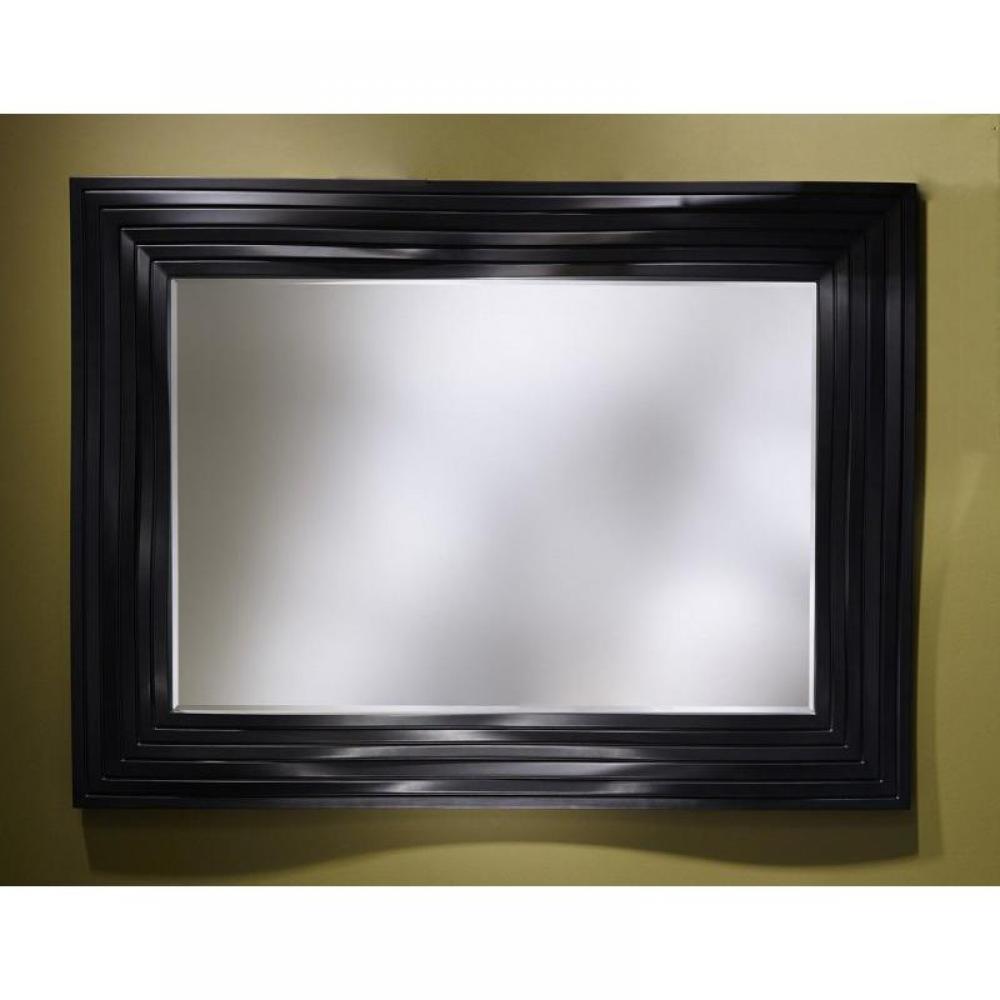 Miroirs meubles et rangements smooth miroir mural design for Miroir mural noir