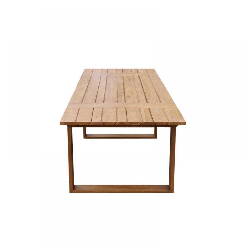 Table extensible solid teck massif 14 couverts int rieur ext rieur - Table extensible exterieur ...
