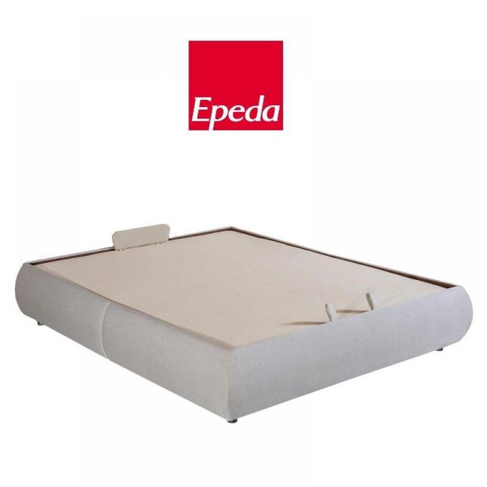 lits chambre literie sommier coffre epeda volupta beige 160 200cm inside75. Black Bedroom Furniture Sets. Home Design Ideas