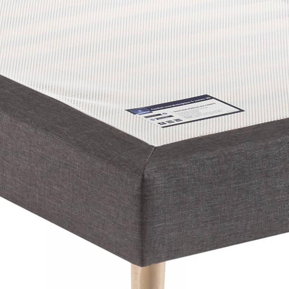 sommiers chambre literie sommier tapissier lattes recouvertes merinos chin gris. Black Bedroom Furniture Sets. Home Design Ideas