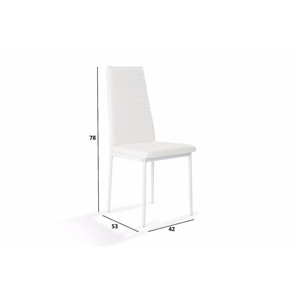 Chaises tables et chaises chaise design nosa en tissu enduit polyur thane s - Chaise simili cuir blanche ...