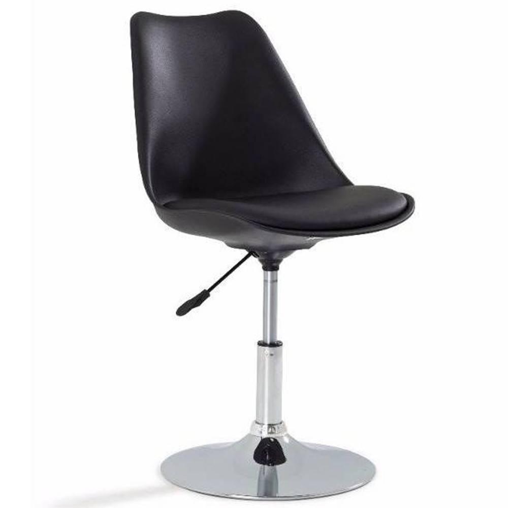 chaises de bureau meubles et rangements chaise de bureau reglable paris similicuir noir inside75. Black Bedroom Furniture Sets. Home Design Ideas