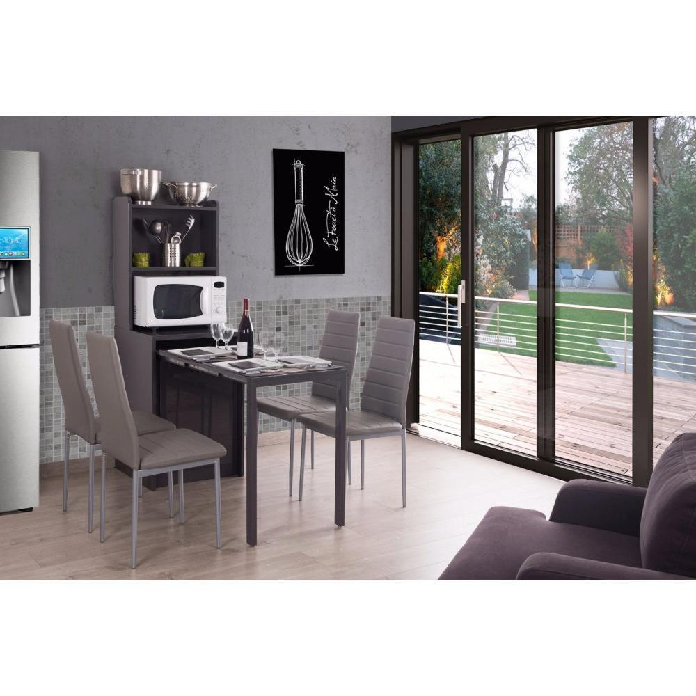 consoles extensibles tables et chaises meuble kolto transformable en console extensible gris. Black Bedroom Furniture Sets. Home Design Ideas