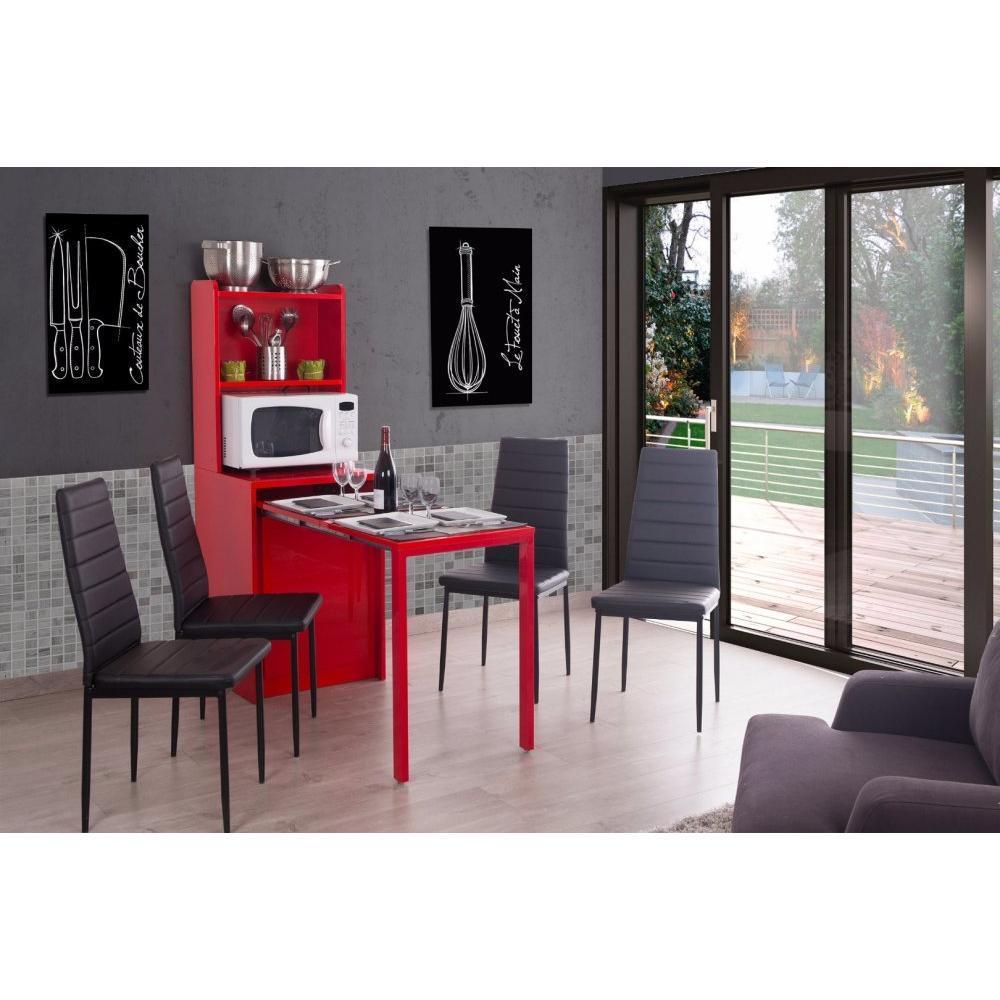 consoles extensibles tables et chaises meuble kolto transformable en console extensible rouge. Black Bedroom Furniture Sets. Home Design Ideas