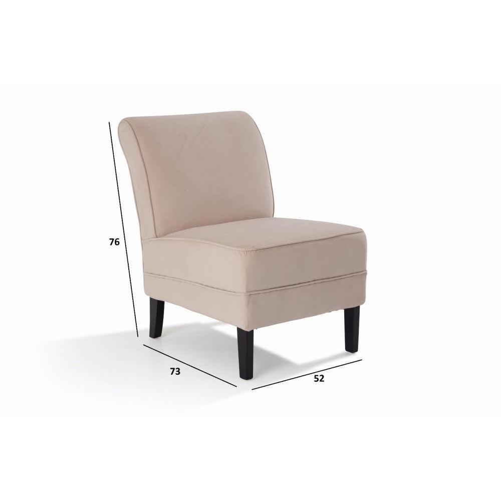 Fauteuils design canap s et convertibles petit fauteuil lounge tissu ivoire - Petit fauteuil convertible ...
