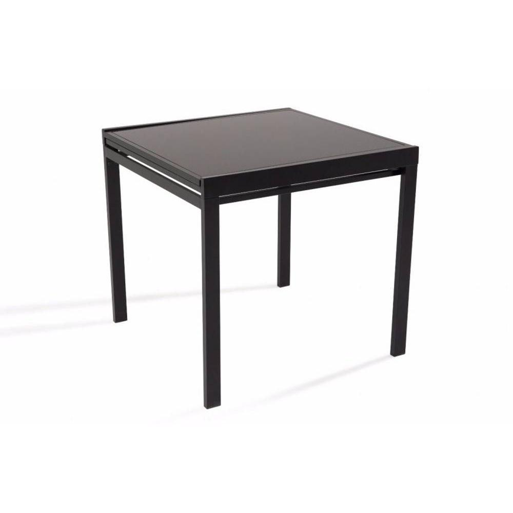 tables tables et chaises table repas carr extensible verny noir. Black Bedroom Furniture Sets. Home Design Ideas