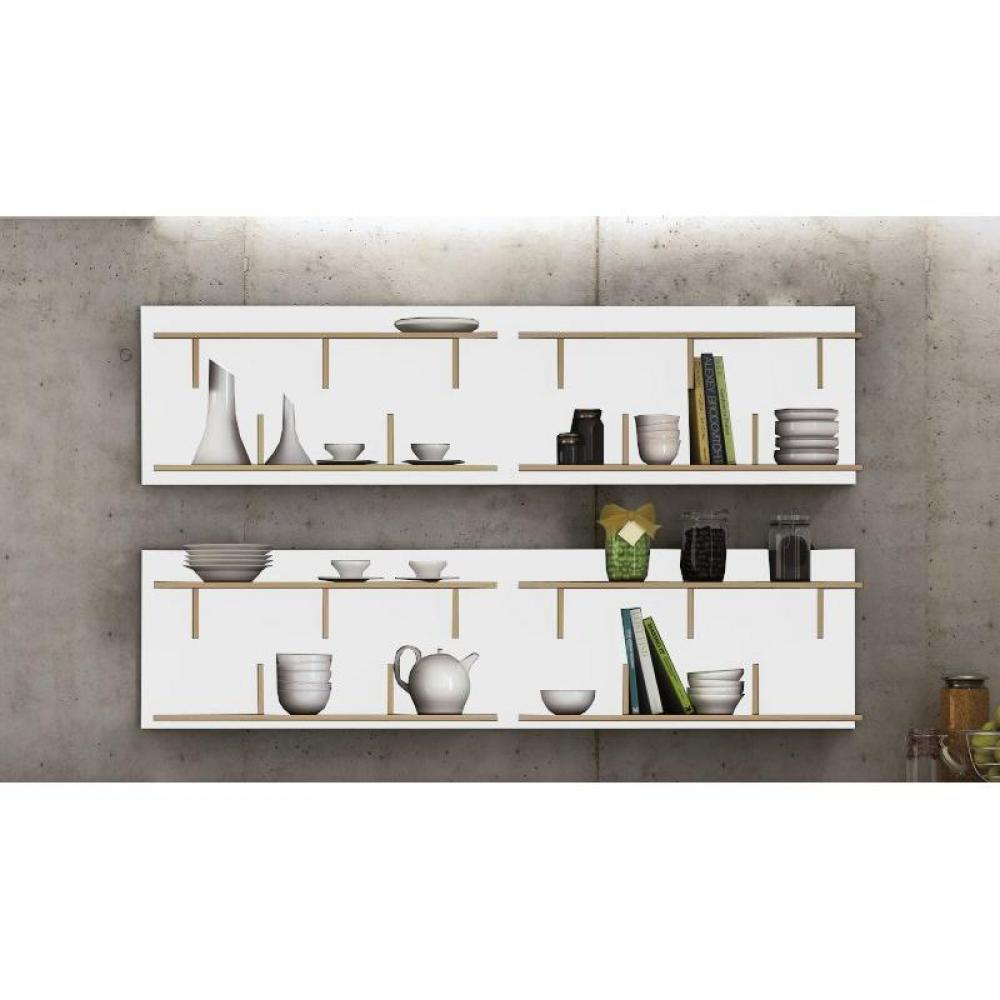 etagere murale bois design. Black Bedroom Furniture Sets. Home Design Ideas