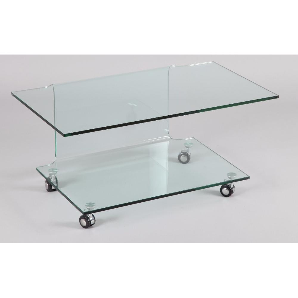 meubles tv meubles et rangements meuble tv t l design step verre tremp double plateaux. Black Bedroom Furniture Sets. Home Design Ideas
