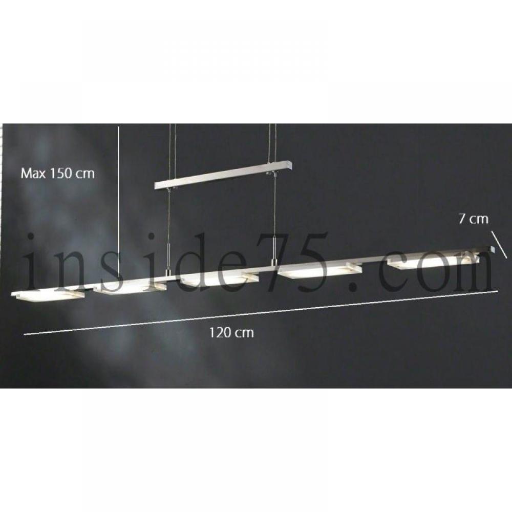 Lampes meubles et rangements step lustre suspendu 5 leds hauteur r glable - Plafonnier suspendu design ...