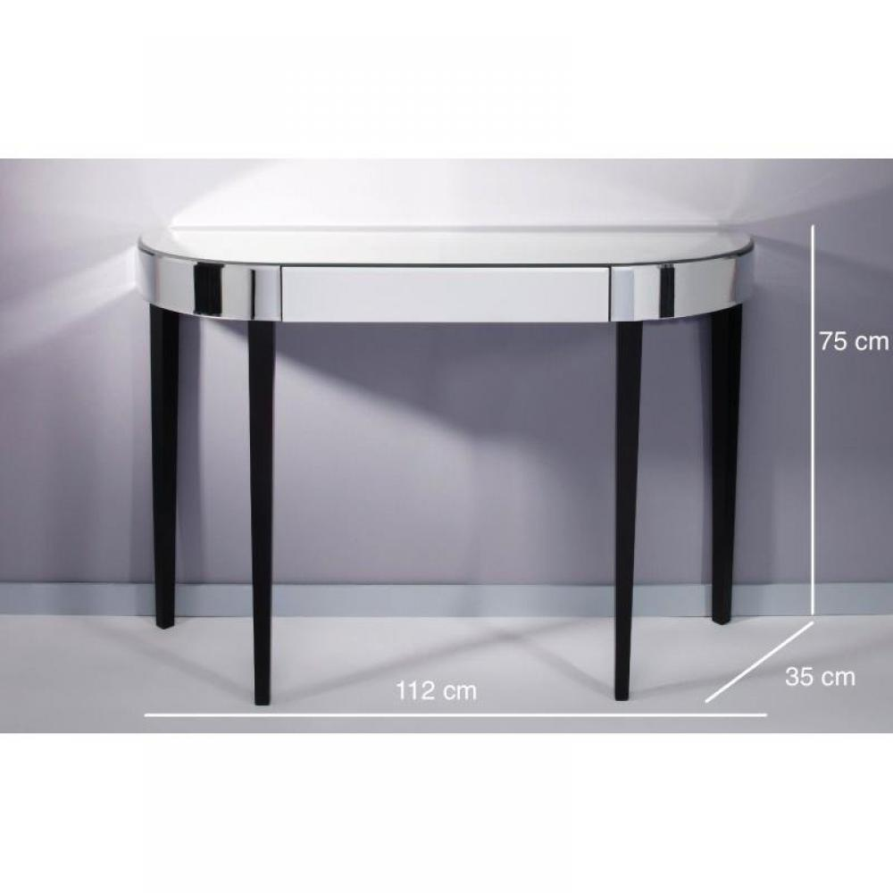 consoles tables et chaises strummer ensemble console et miroir inside75. Black Bedroom Furniture Sets. Home Design Ideas
