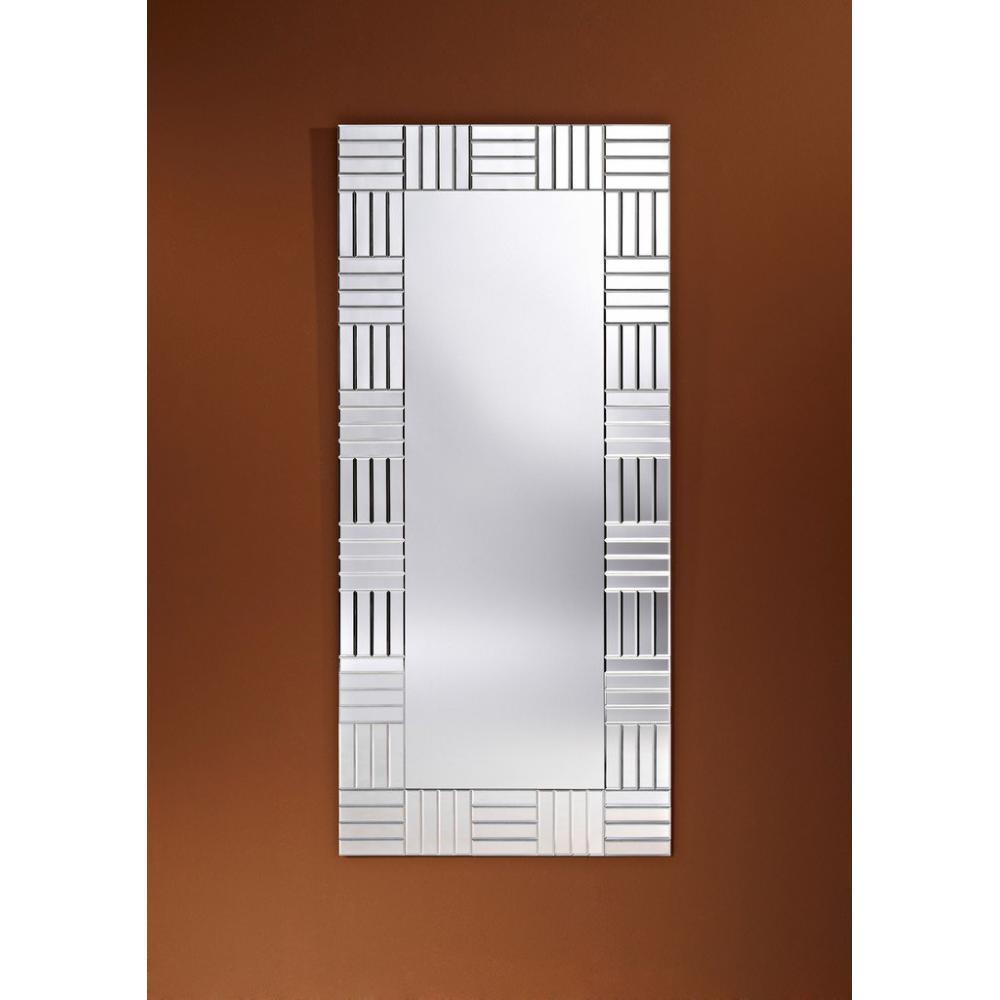 Miroirs meubles et rangements strummer miroir mural for Meuble mural en verre