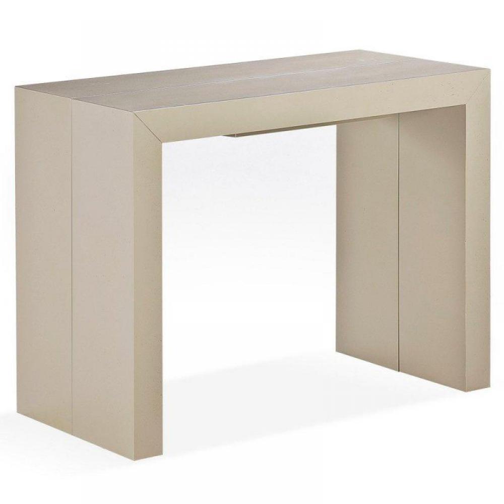 Consoles extensibles meubles et rangements console extensible sublimo taupe - Console extensible taupe ...