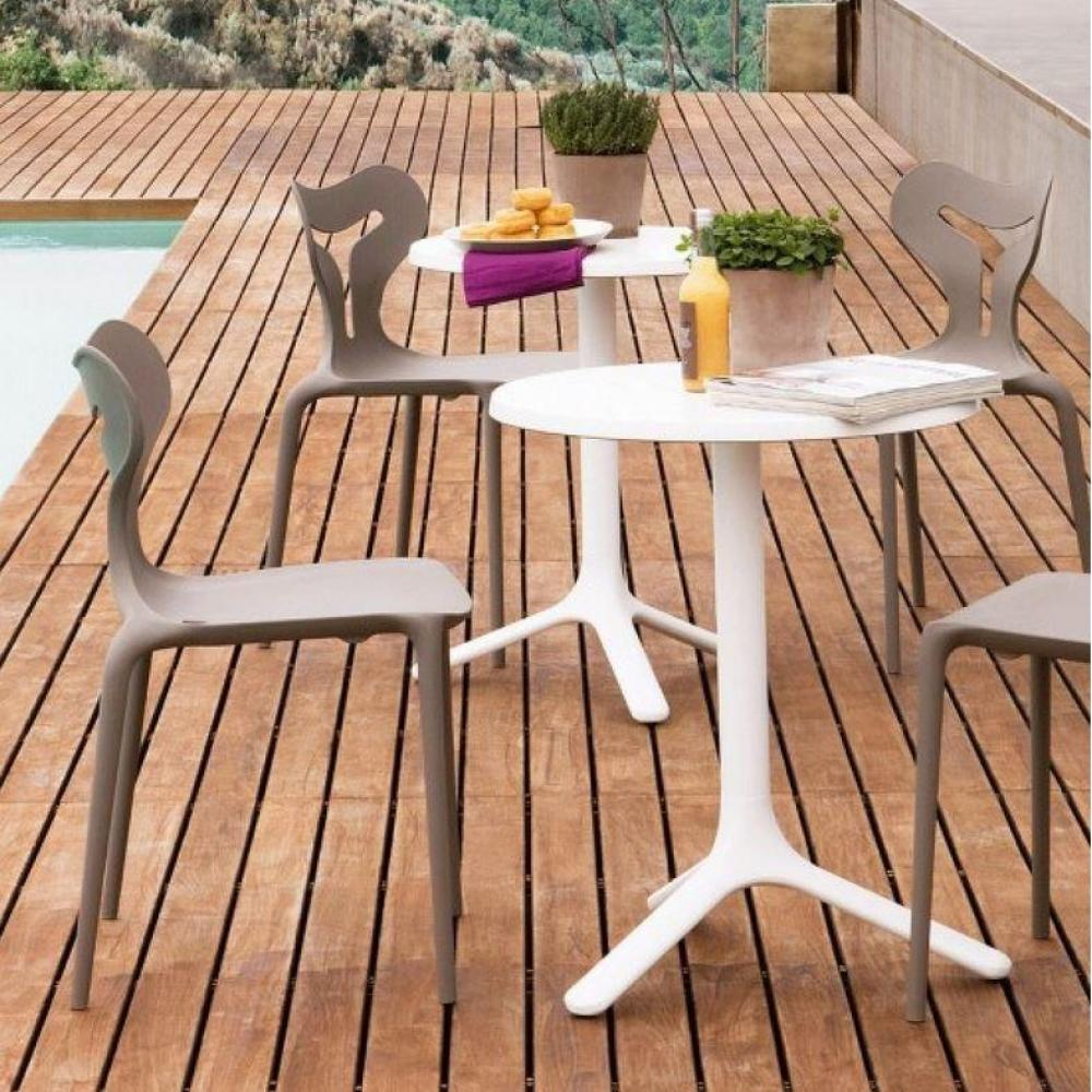 tables de jardin tables et chaises calligaris petite table ronde area t 60x60 blanche inside75. Black Bedroom Furniture Sets. Home Design Ideas