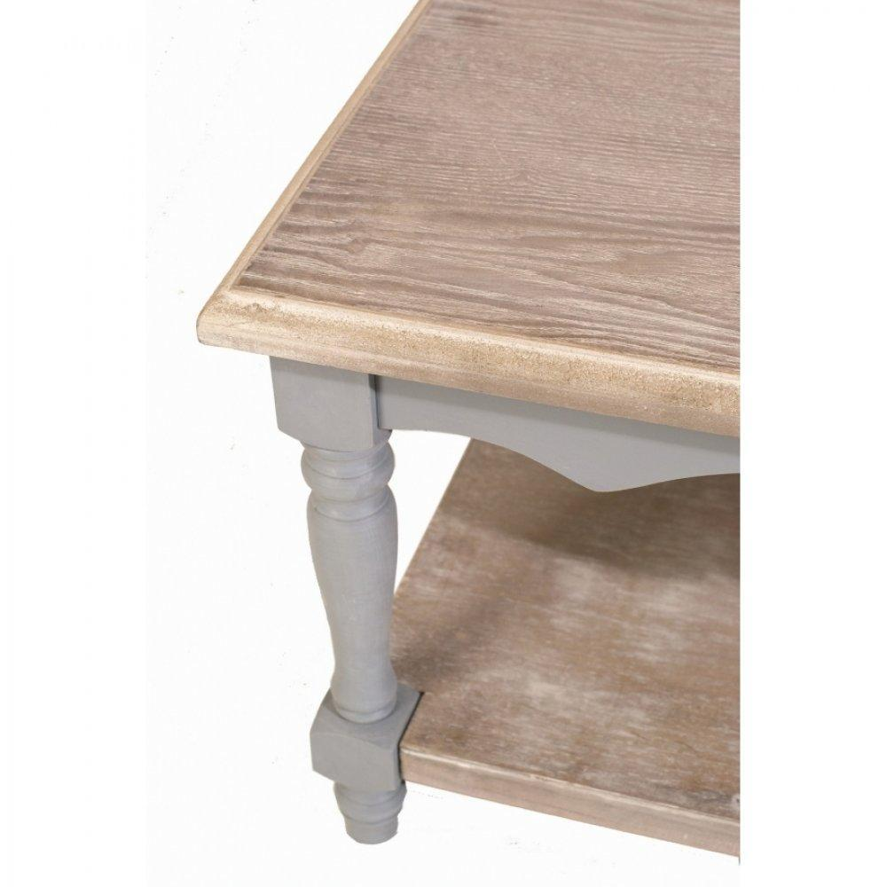 Table basse en bois gris for Grande table basse bois