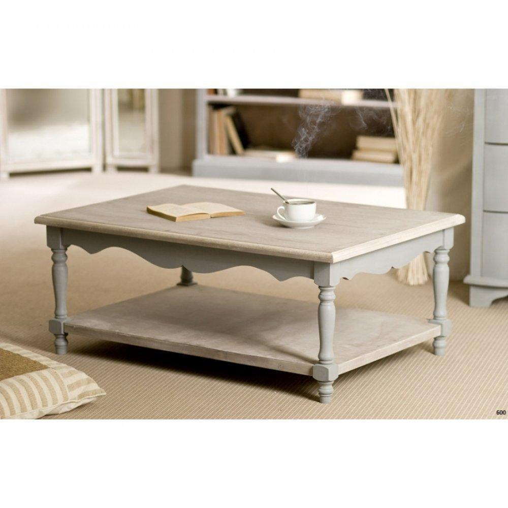Table basse bois vieilli gris for Table basse ceruse gris