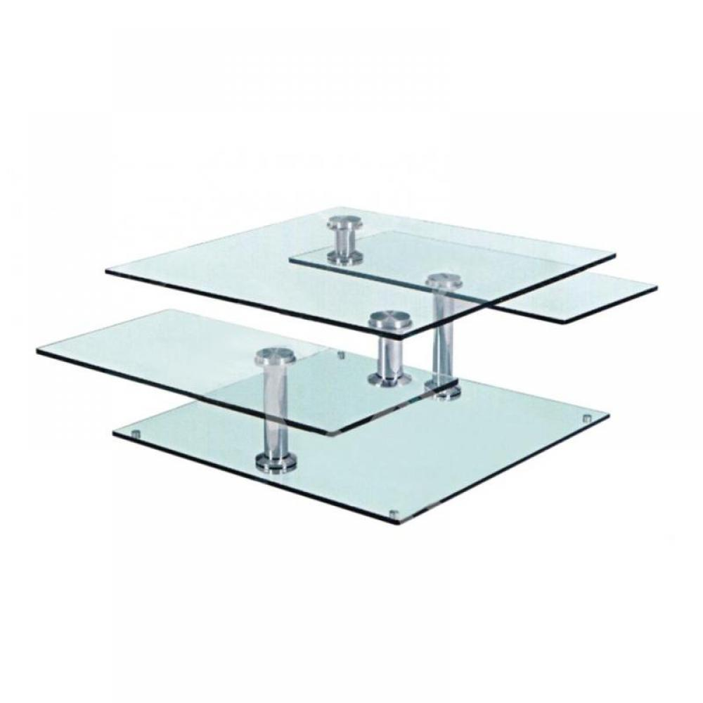 Tables basses tables et chaises table basse pivota en - Table basse acier verre ...