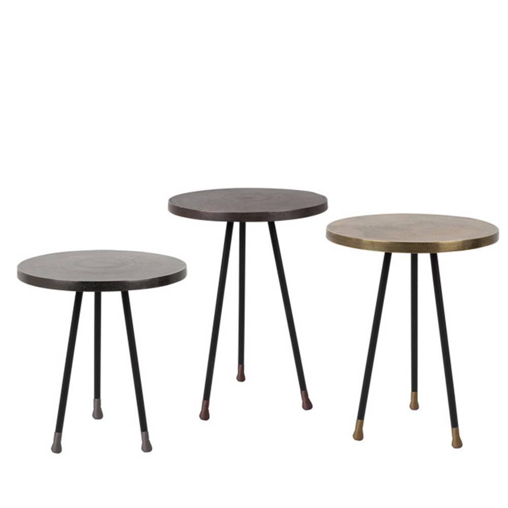 Tables basses tables et chaises lot de 3 tables basses for Table basse trois pieds