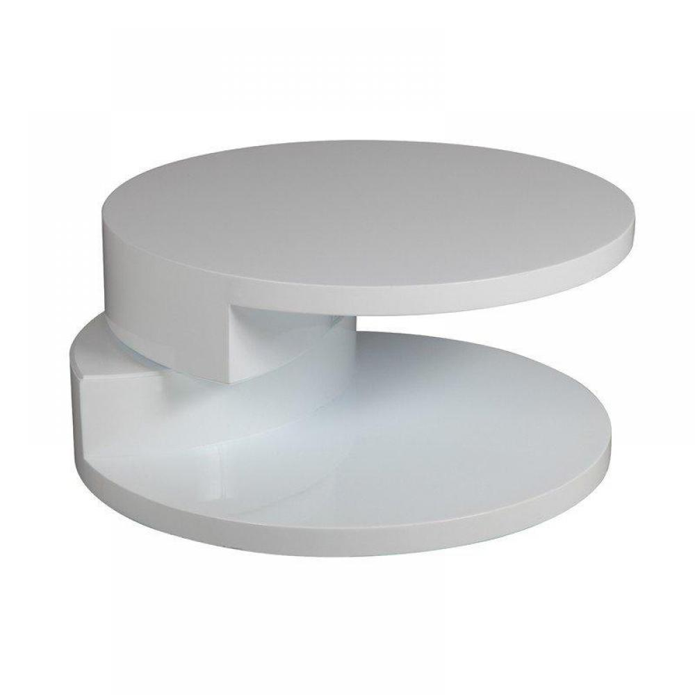 Fabriquer une table basse ronde for Table design blanche