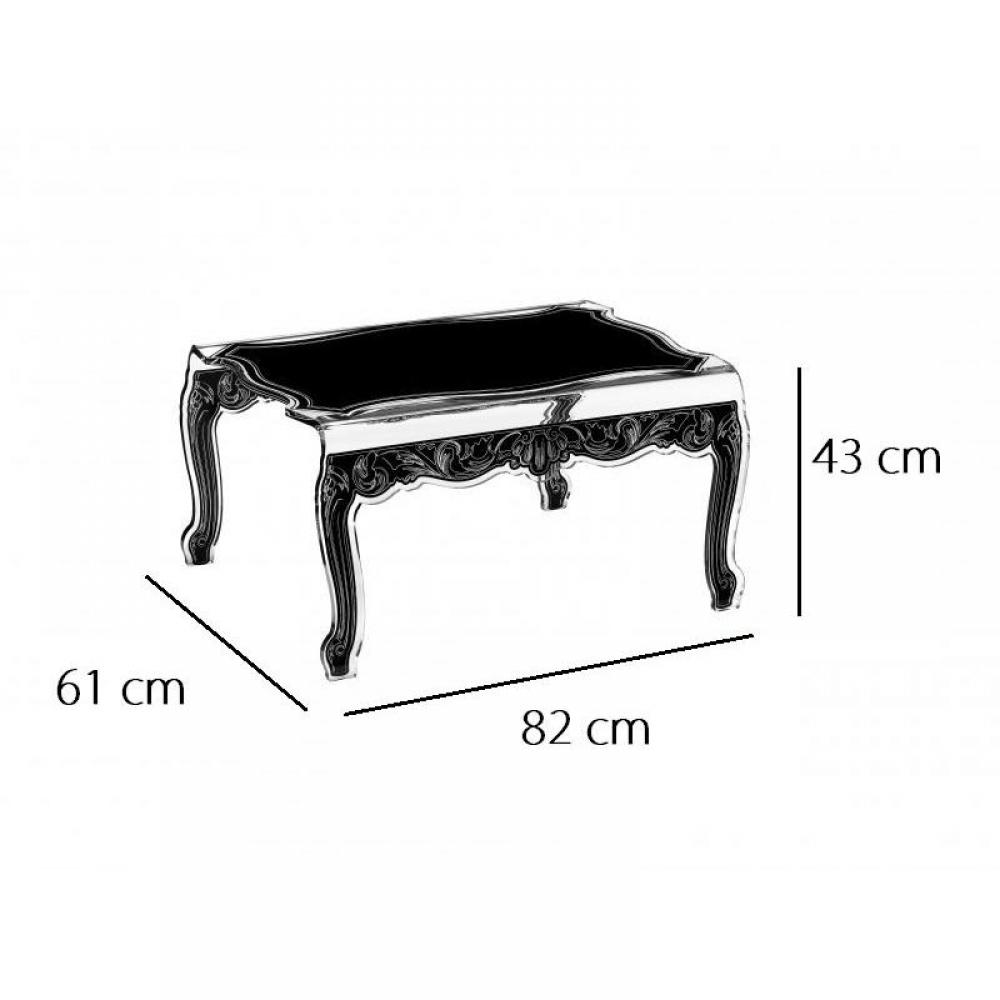 tables basses meubles et rangements baroque noir table basse acrila plexi design inside75. Black Bedroom Furniture Sets. Home Design Ideas
