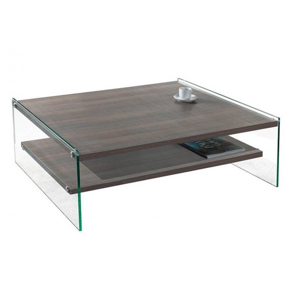 Tables basses tables et chaises table basse bella 2 - Table basse en verre 2 plateaux ...