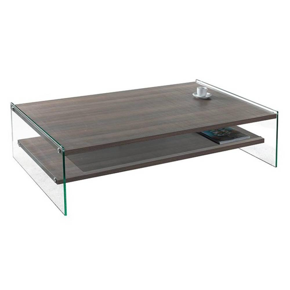 Tables basses tables et chaises table basse rectangle - Table basse en verre 2 plateaux ...