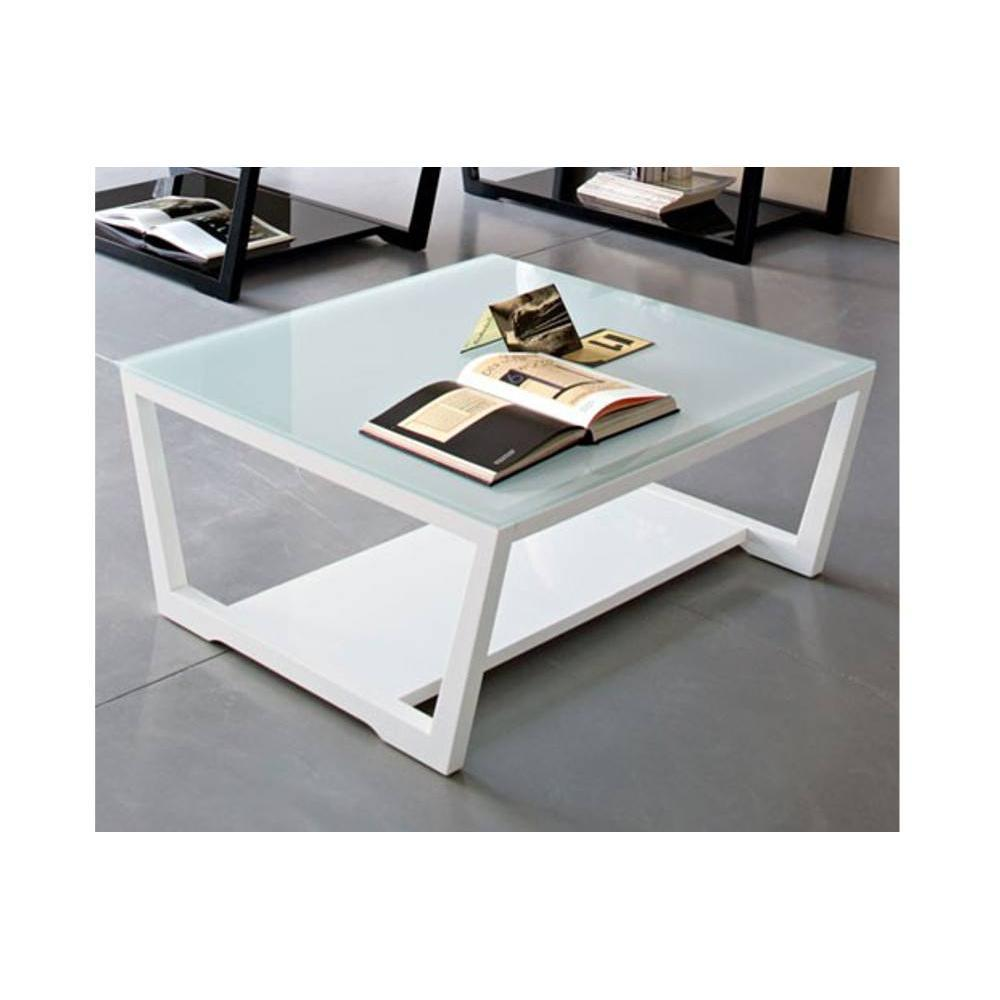 Tables basses tables et chaises calligaris table basse element en verre ext - Table basse en verre blanc ...