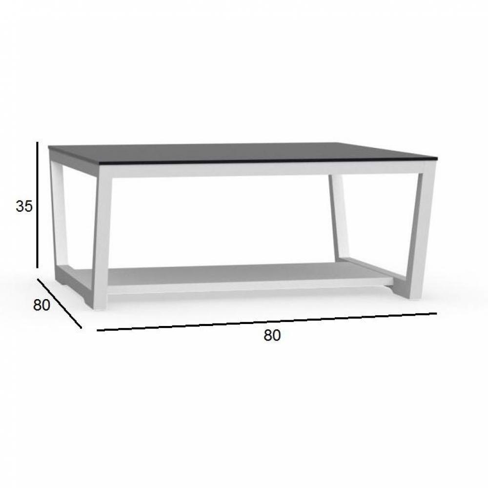 Tables basses tables et chaises calligaris table basse - Table basse blanche et noir ...
