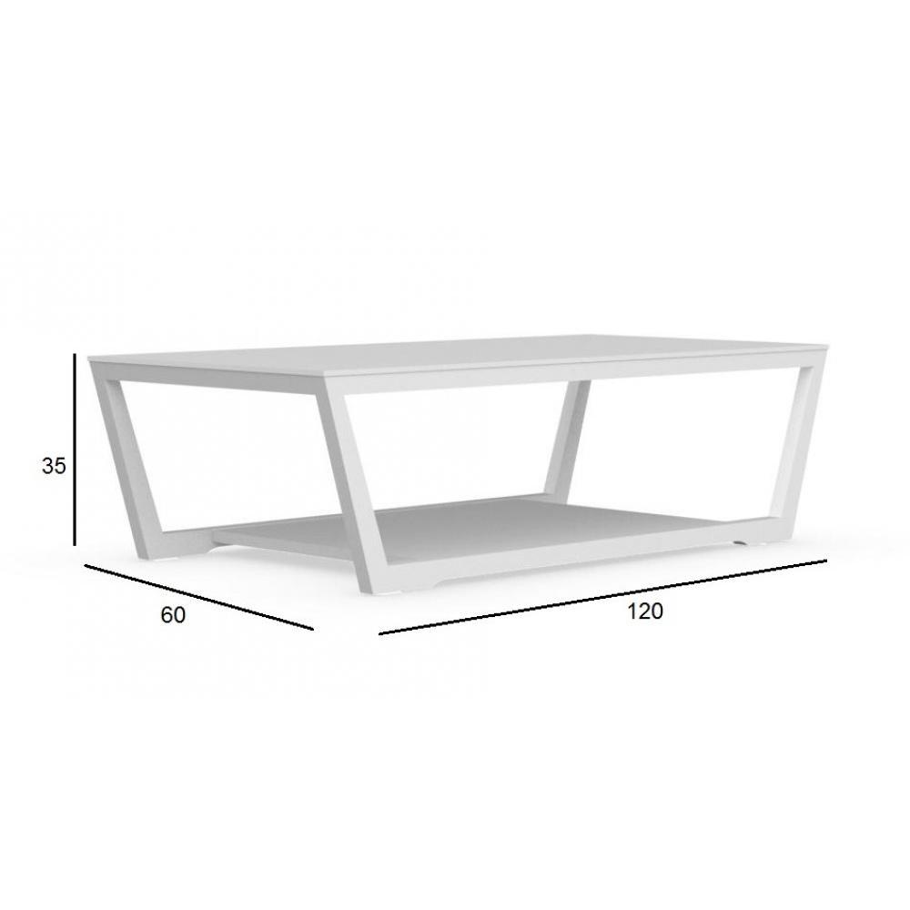 Tables basses tables et chaises calligaris table basse element en verre bla - Table basse verre blanc ...