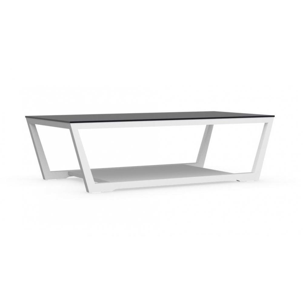 Tables basses tables et chaises calligaris table basse element blanche avec - Table basse en verre noir ...