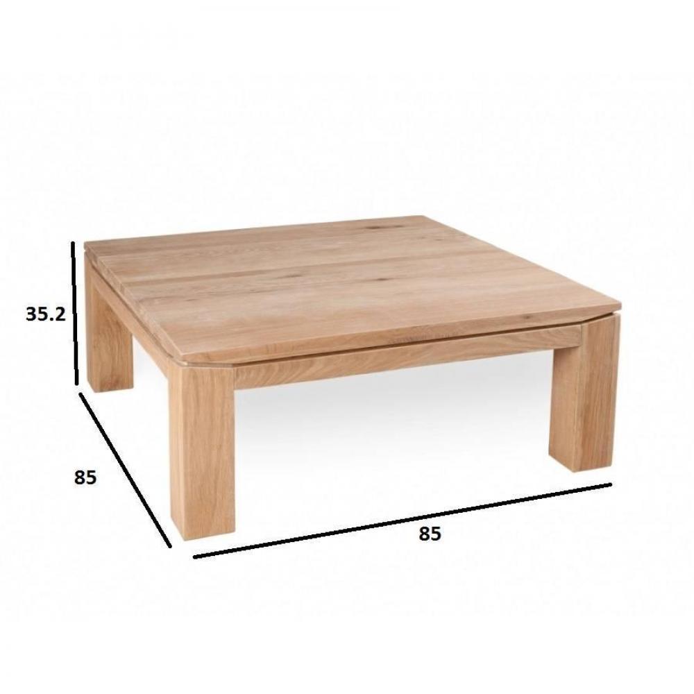 Tables basses tables et chaises table basse carr e 85 x for Table largeur 85 cm