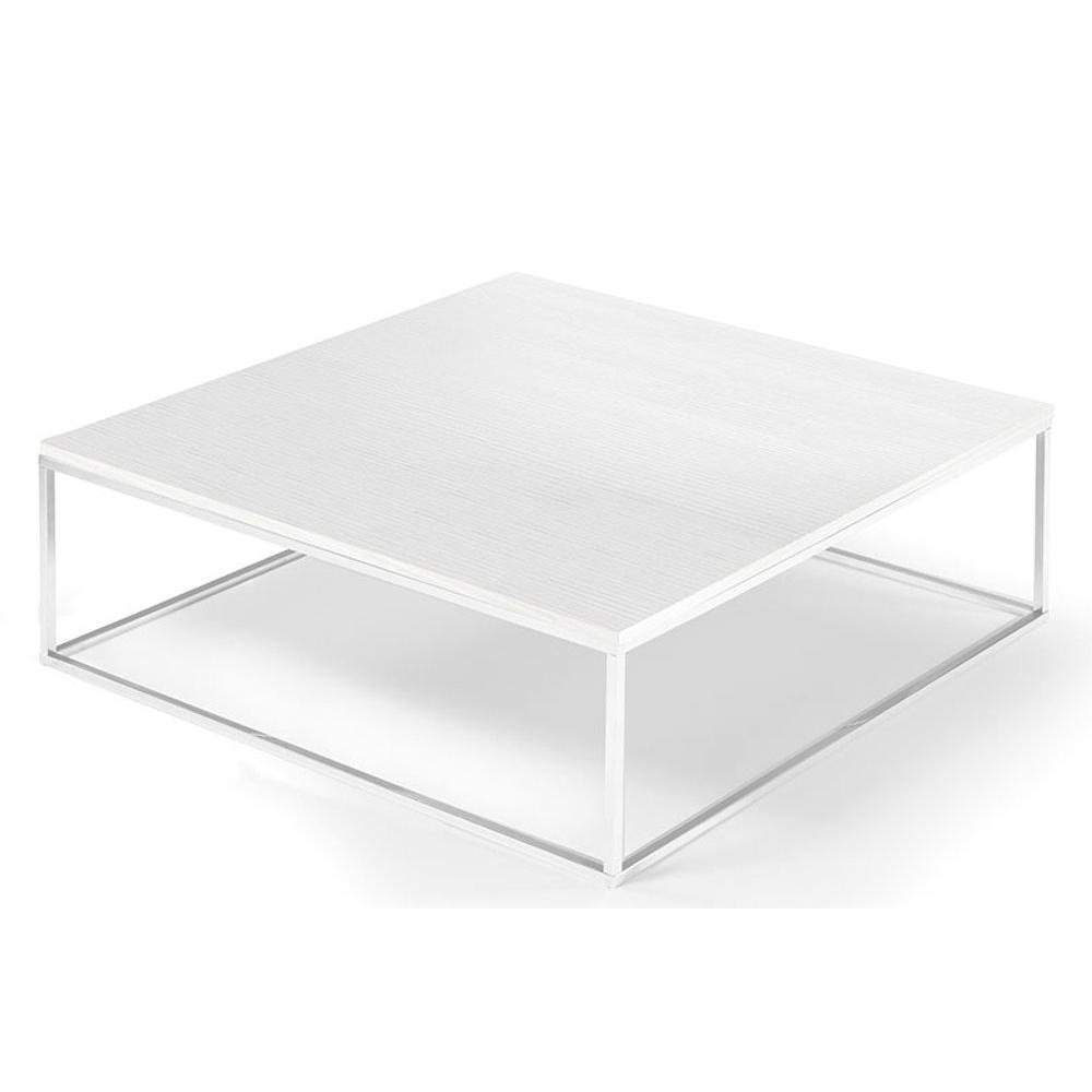 Tables basses tables et chaises table basse carr e mimi blanc c ruse insi - Table basse carree blanc ...