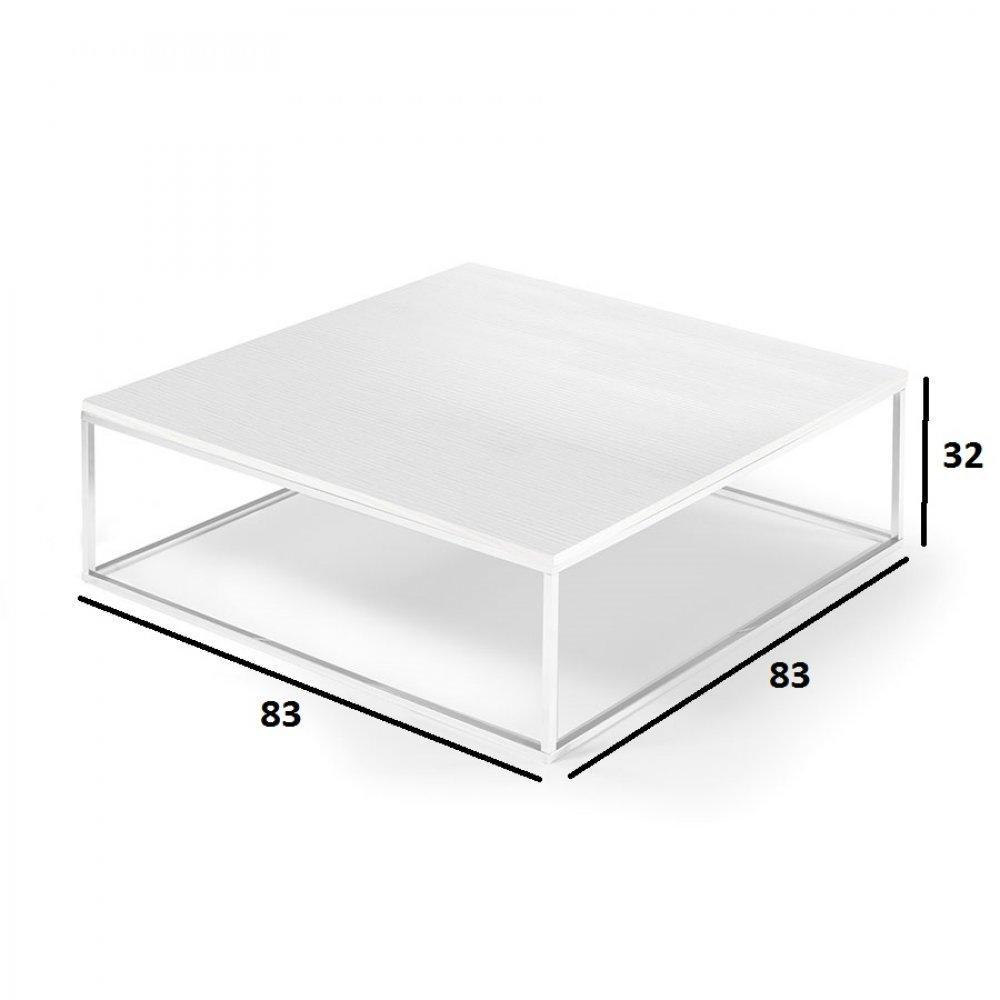 Table basse carree blanc maison design - Table basse bois blanc ceruse ...