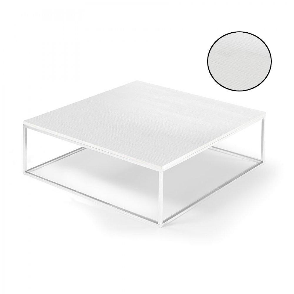 Tables basses tables et chaises table basse carr e mimi - Meuble ceruse blanc technique ...