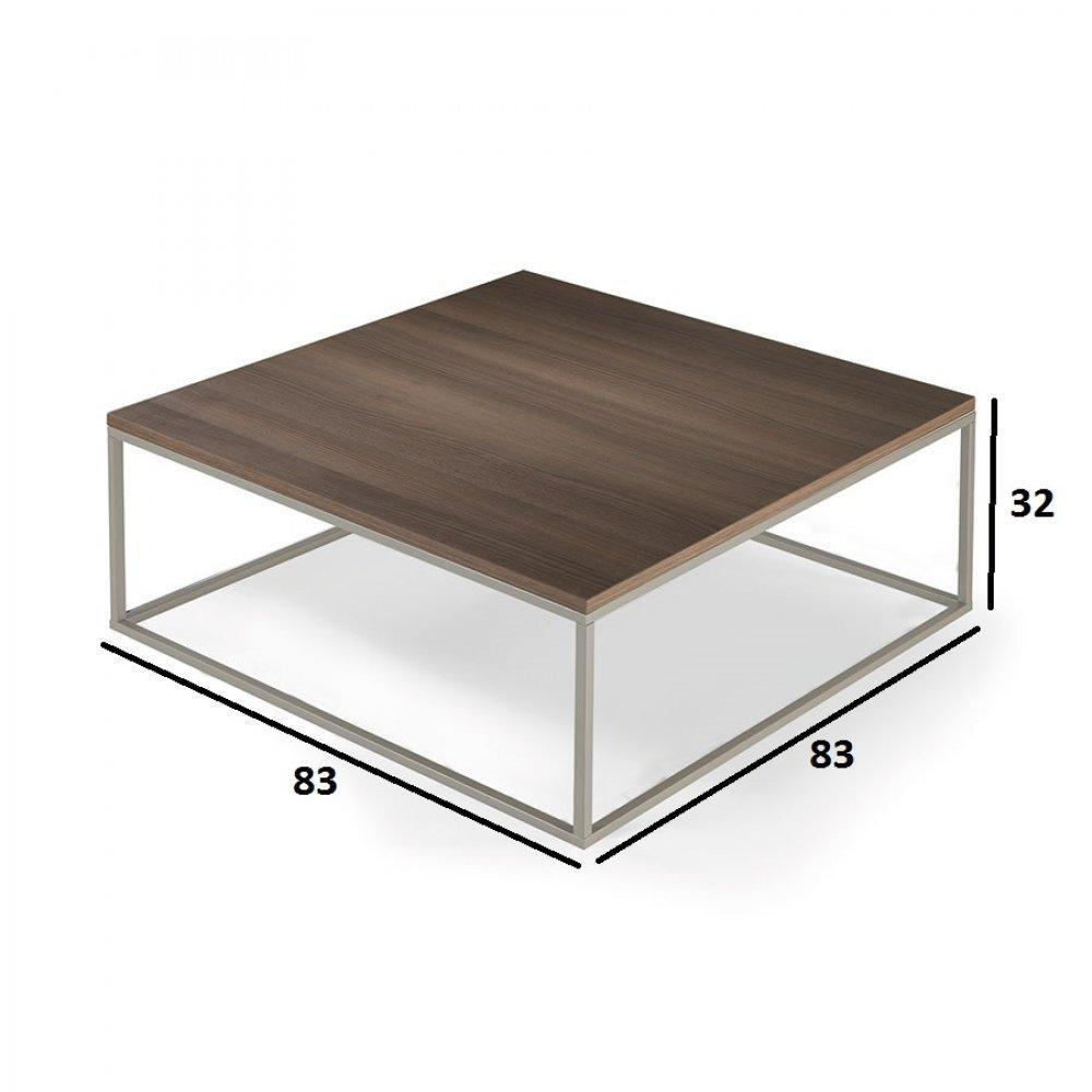 Tables basses tables et chaises table basse carr mimi c ruse orme inside75 - Table basse ultra design ...