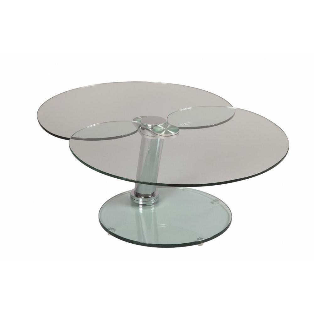 Tables basses tables et chaises table basse clover en for Table en verre basse