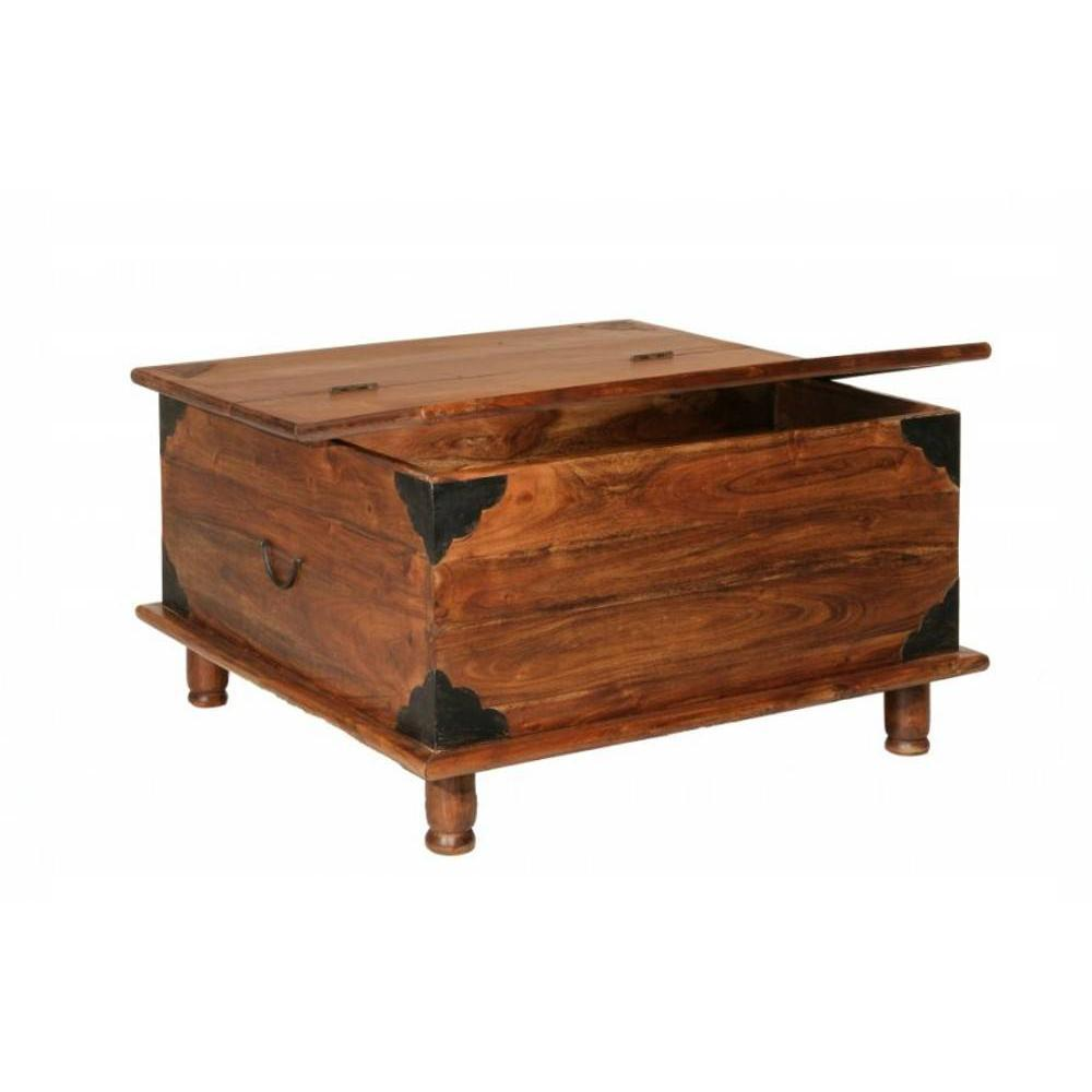 Tables basses tables et chaises table basse coffre adam for Table basse coffre bois