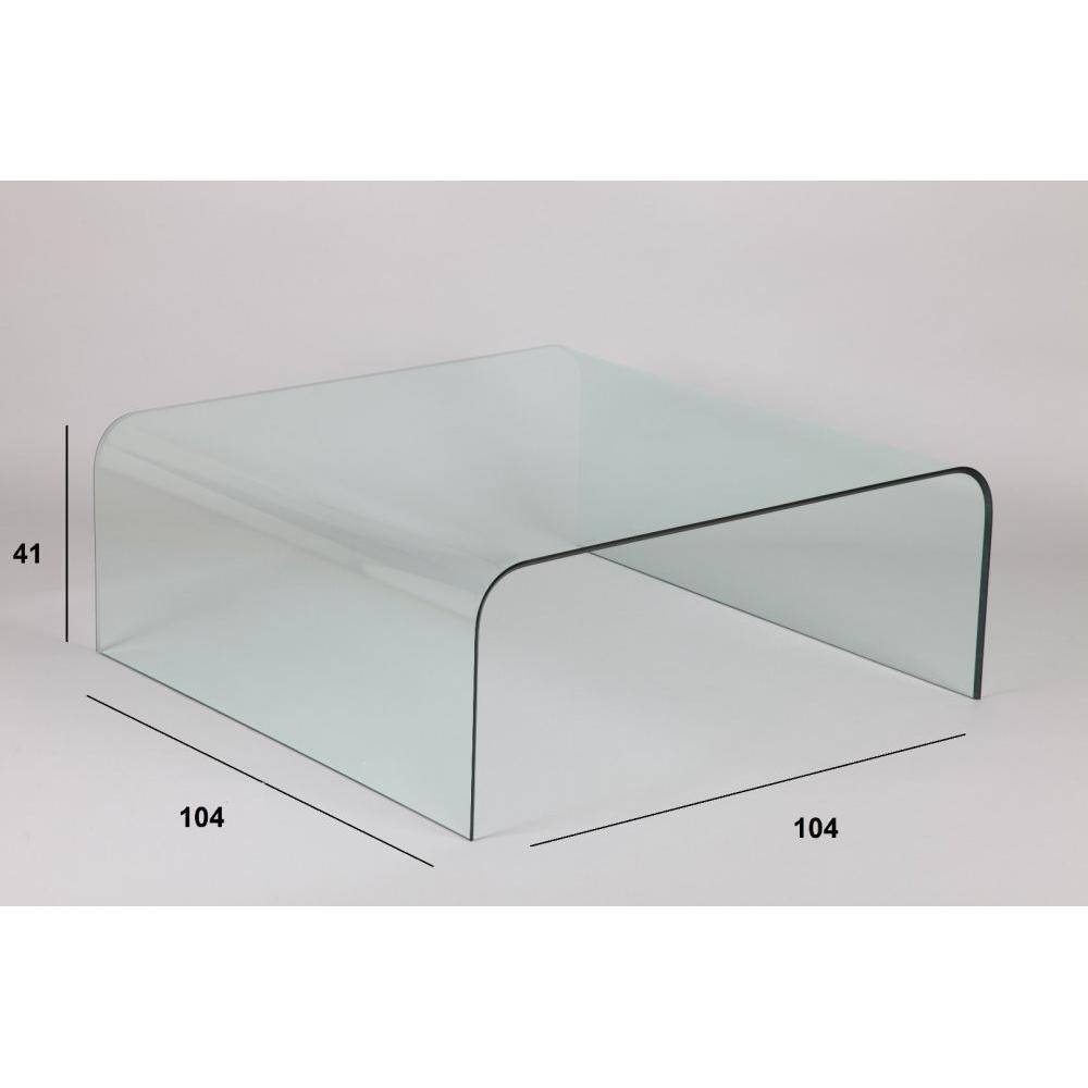 Tables basses tables et chaises table basse carr - Table basse tout en verre ...