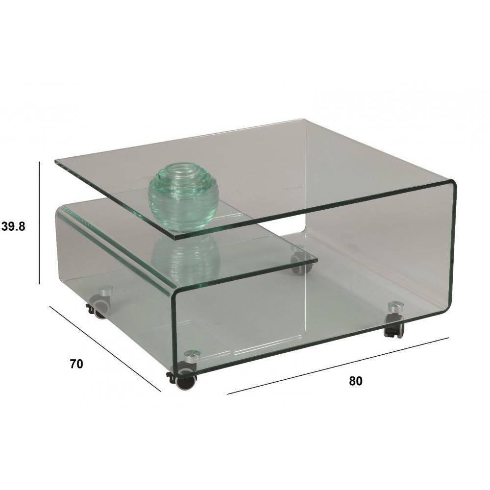 Tables basses tables et chaises table basse cristallin for Verre pour table basse