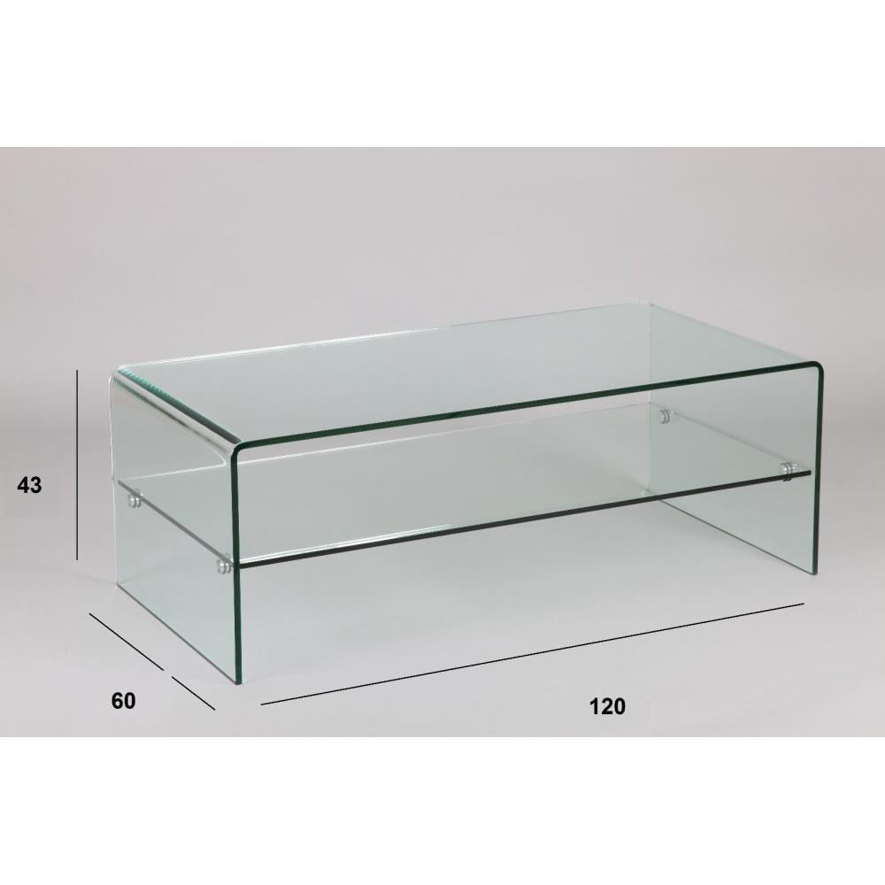 Tables basses tables et chaises table basse cristallisa en verre inside75 - Table basse tout en verre ...