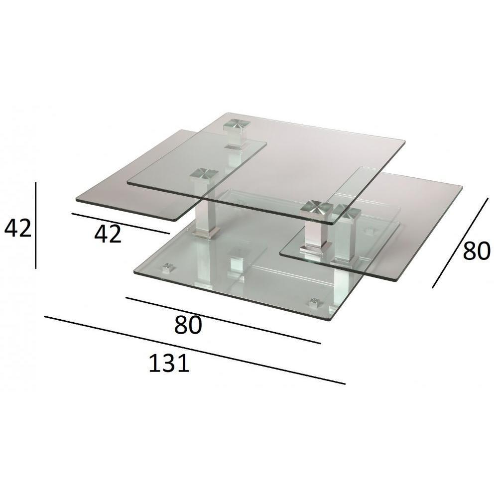 Tables basses tables et chaises table basse design cube for Table basse verre acier