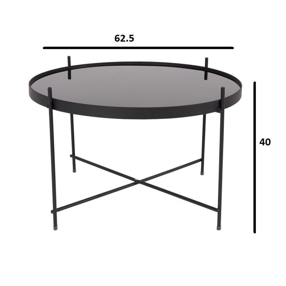 Tables basses tables et chaises zuiver table basse cupid acier noir 63 x 40 - Table basse acier noir ...