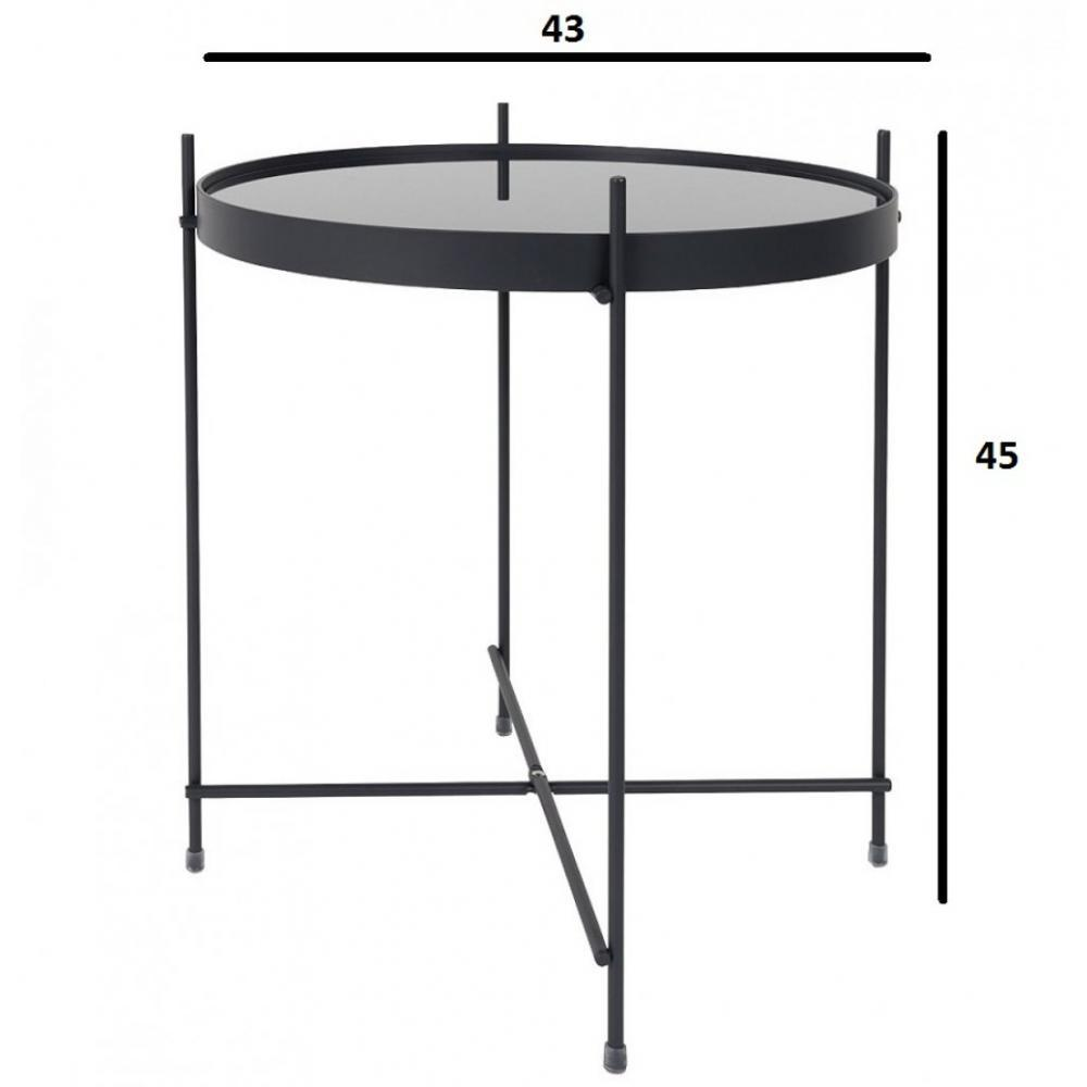 Tables basses tables et chaises zuiver table basse cupid acier noir 43 x 45 - Table basse acier noir ...