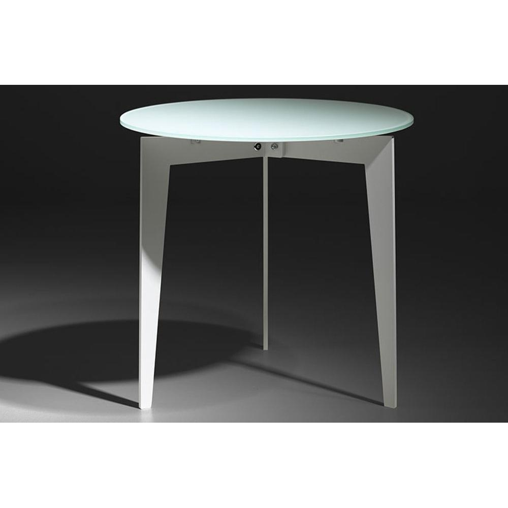 Table Ronde Blanc Of Table Basse En Verre Blanc